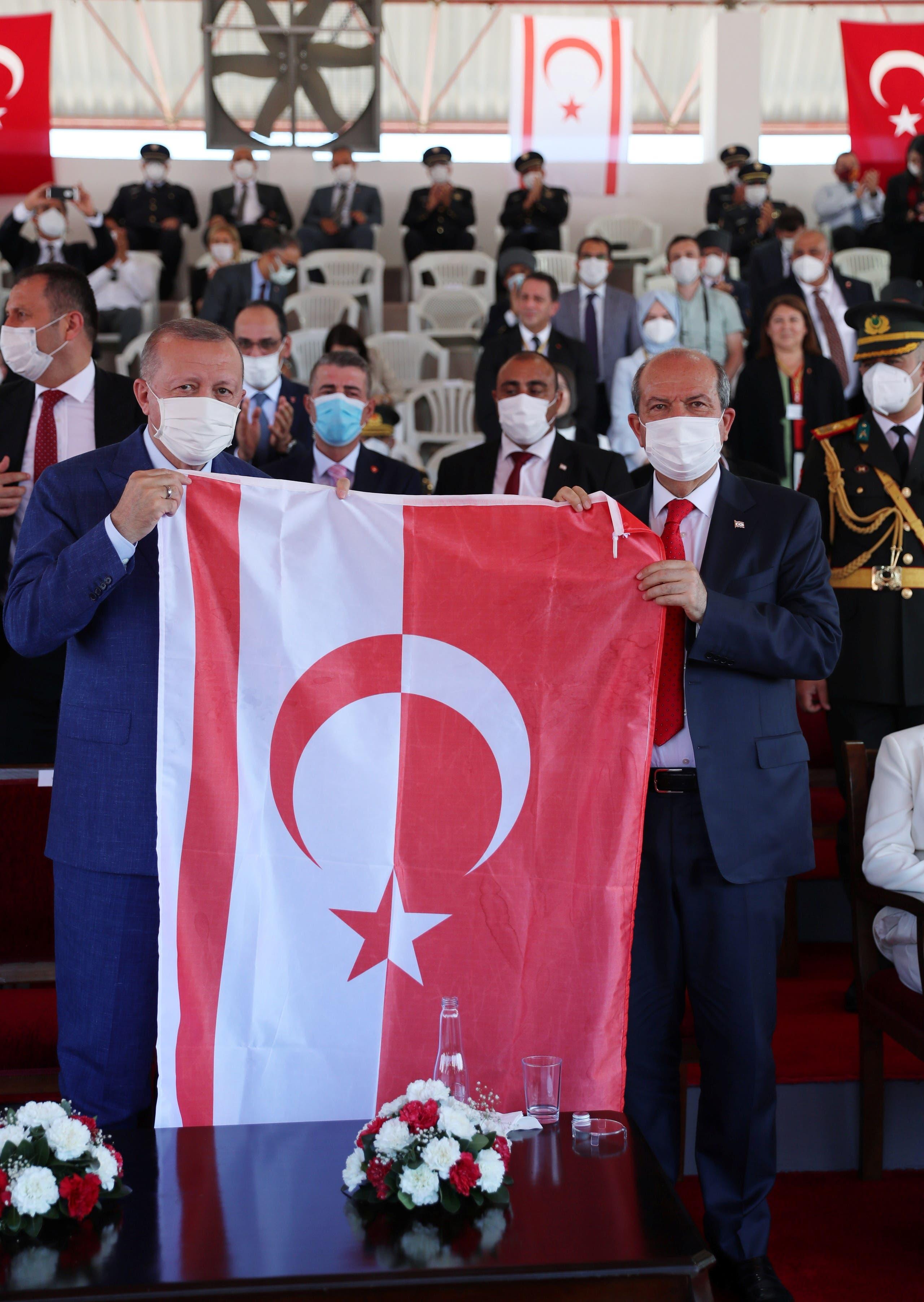 من زيارة أردوغان أمس لنيقوسيا