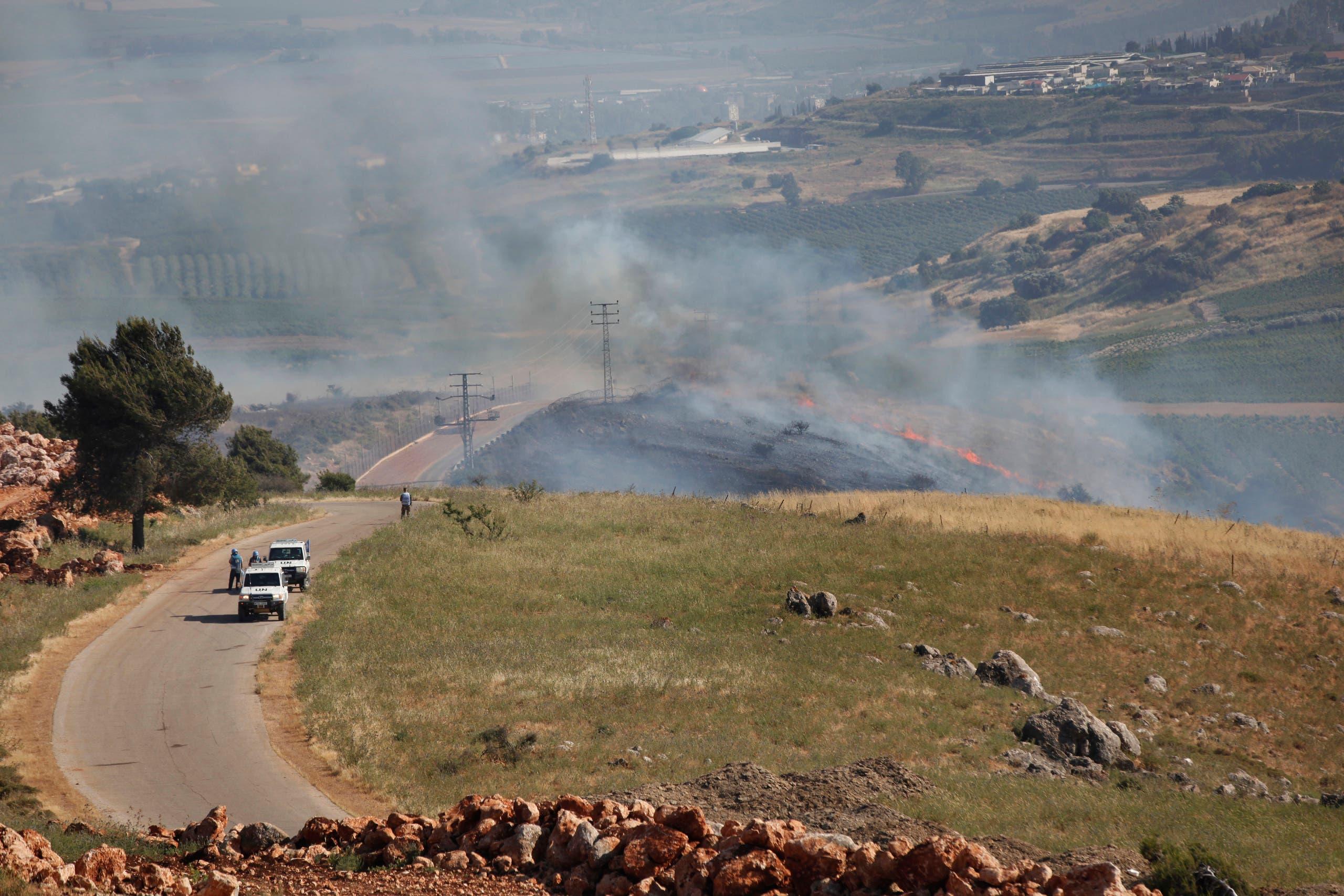 من الحدود اللبنانية الإسرائيلية (أرشيفية من أسوشييتد برس)