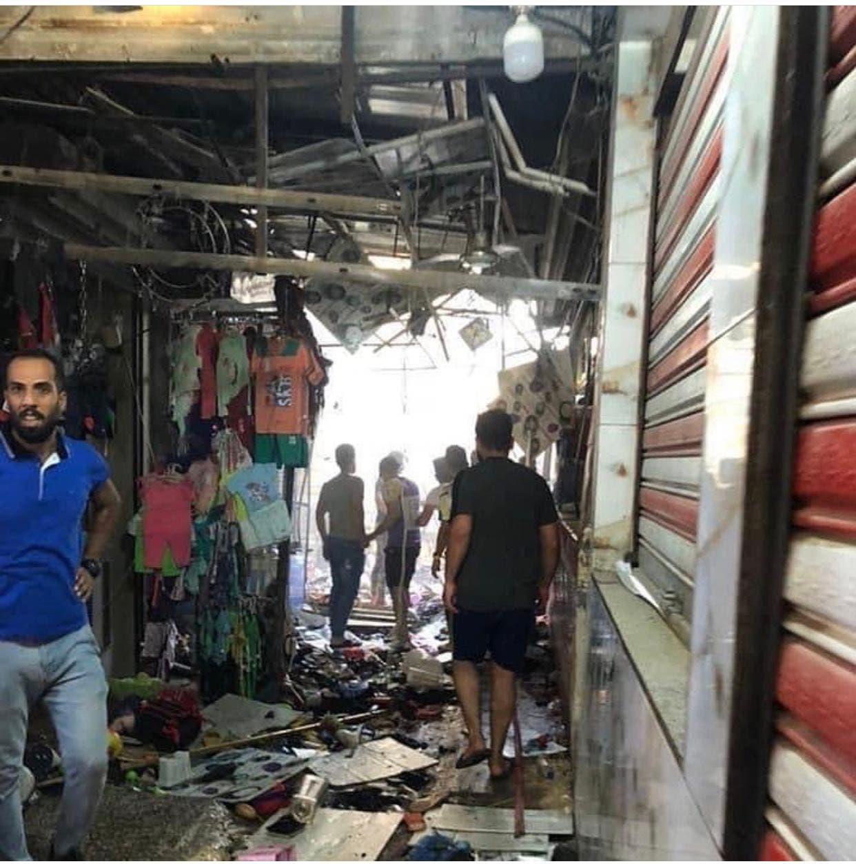 من تفجير السوق الشعبي وسط مدينة الصدر العراقية