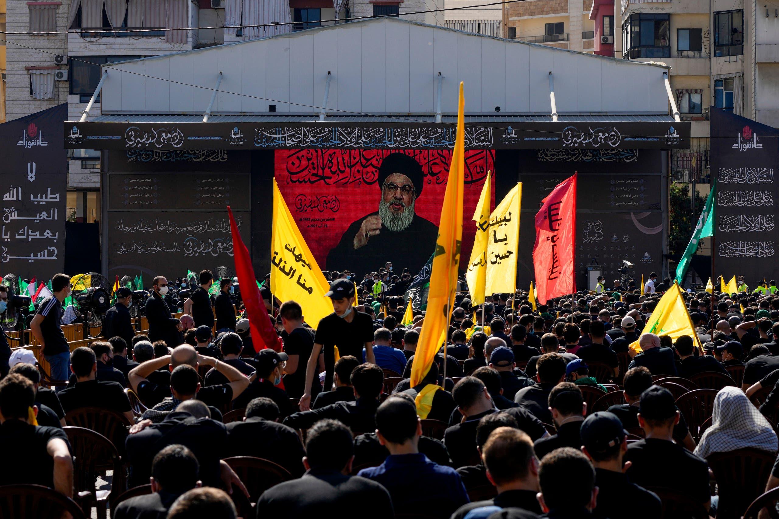 زعيم حزب الله حسن نصرالله (أسوشييتد برس)
